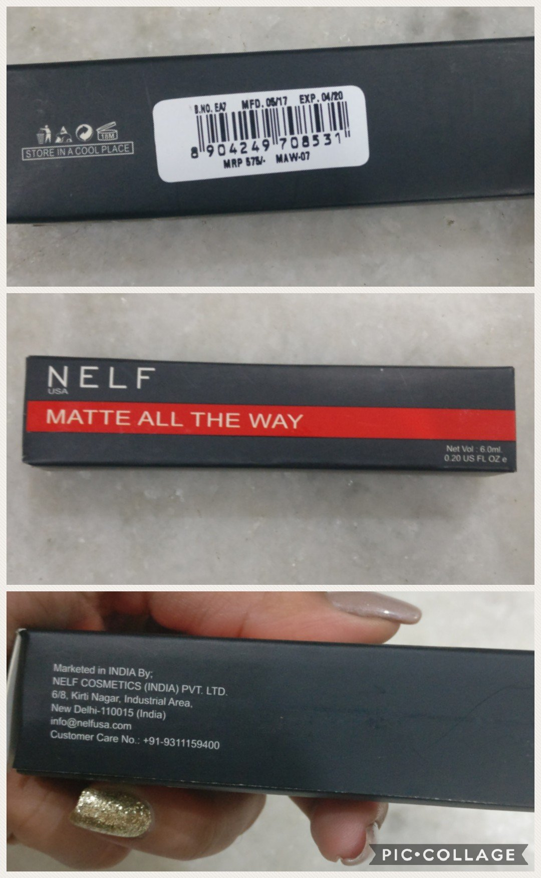 Nelf cosmetics all the way matte lipstick swatches and review image